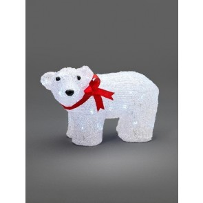 KonstsmideWeihnachten LED Acryl Eisbär