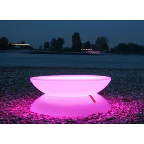 Lounge LED Pro Accu, Farbwechsel, Höhe 33 cm, Ø 84 cm, inkl Glasplatte