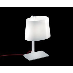 Marlowe T E27 White, White Frame Red Cable