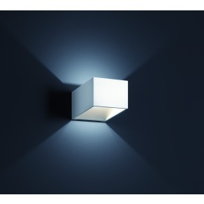 Miko, 10 x 10 cm, inkl LED, mattweiß