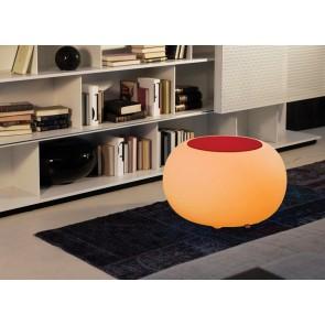 Bubble Indoor LED mit orangenem Sitzkissen