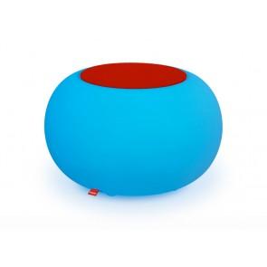 Bubble Indoor LED mit rotem Sitzkissen
