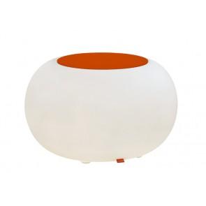 Bubble Indoor mit orangenem Filzkissen