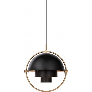 Multi-Lite Pendant, Ø 36, Brass base, Charcoal Black shade