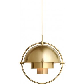 Multi-Lite Pendant, Ø 36, Brass base, Brass shade