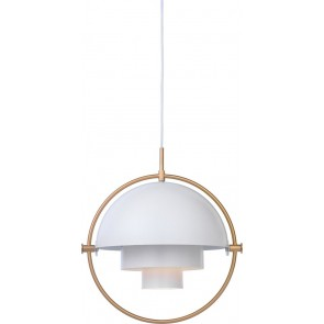Multi-Lite Pendant, Ø 36, Brass base, White shade
