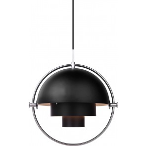 Multi-Lite Pendant, Ø 36, Chrome Base, Black shade