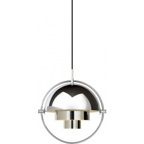 Multi-Lite Pendant, Ø 36, Chrome Base, Chrome shade