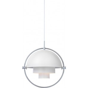 Multi-Lite Pendant, Ø 36, Chrome Base, White shade