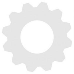 D13/25 Baldachin-Rosette Weiß