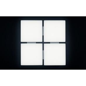 QUATTRA, LED 3000K, 66W, 5316lm, Notlicht 3h, 580x580mm
