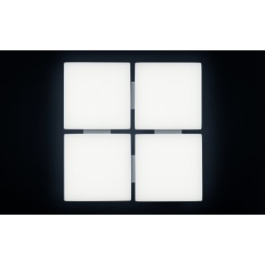 QUATTRA, LED 3000K, 66W, 5316lm, DALI, 580x580mm