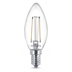 LED Classic E14 (B35) 2W (ersetzt 25W), 250lm, warmweiß 2700K, klar