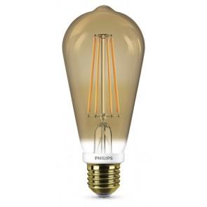 LED Classic E27 (ST64) 7W (ersetzt 50W), 630lm, 2000K, GOLD 2200K, dimmbar