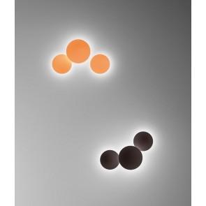 Puck Wall Art 5461, 1-flammig, Ø 38 cm, orange