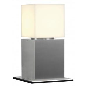 Square Pole 30 Höhe 30 cm metallisch 1-flammig quaderförmig