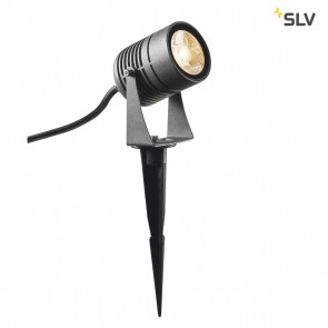LED SPIKE, LED Outdoor Erdspießleuchte, anthrazit, IP55, 3000K, 40°
