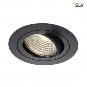 New Tria 1 Set, LED, 6,2 W, Clipfedern, 3000K, rund, schwarz matt