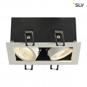 KADUX LED DL Set, mattweiss, 2x9W, 38°, 3000K, inkl Treiber