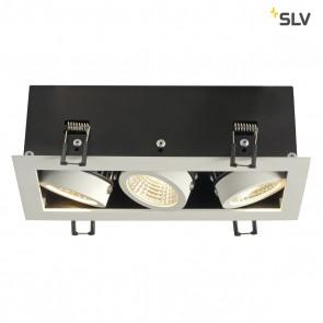 KADUX LED DL Set, mattweiss, 3x9W, 38°, 3000K, inkl Treiber