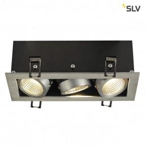 KADUX LED DL Set, Alu Gebürstet, 3x9W, 38°, 3000K, inkl Treiber
