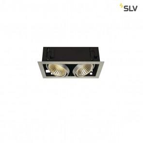 KADUX LED DL Set, Alu Gebürstet, 2x24W, 30°, 3000K, inkl Treiber