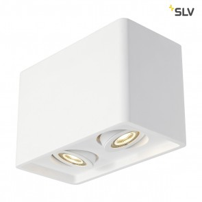 Plastra Box 2 DL, Gips, 2xGU10, max 35W, L 25 cm