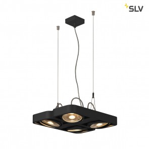 Aixlight R2 Square LED GU10, QPAR111, schwarz