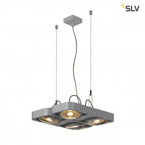 Aixlight R2 Square LED GU10, QPAR111, silbergrau