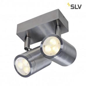 ASTINA double spot, LED Wandleuchte, Edelstahl 316, LED 2x3W, 3000K, IP44