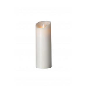 Flame, weiß, 23 x 8 cm, Echtwachs