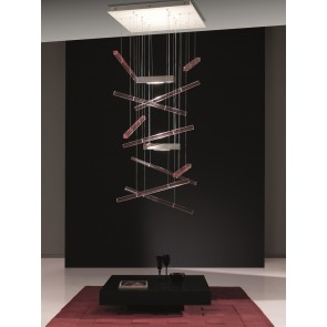 Axo Light SP Exp Q 10, 2-flammig, 59 x 59 cm, rot