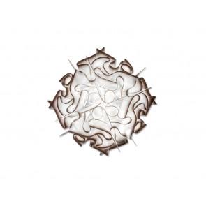 Veli Ceiling-Wall M, Ø 53 cm, rostbraun