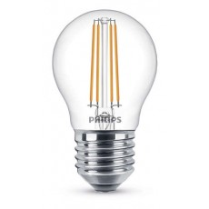 LED Classic E27 (P45) 5W (ersetzt 40W), 470lm, warmweiß 2700K, klar, dimmbar
