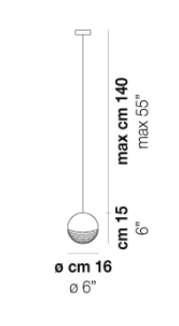Vistosi LED Kugel Pendelleuchte Bolle, Weiß, Glas/Metall, SPBOLLE0124BA2E