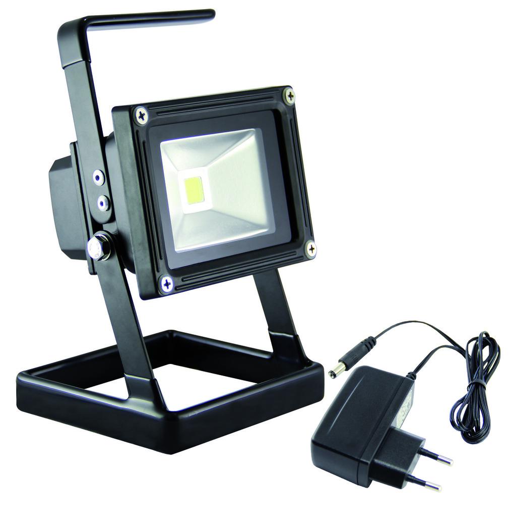 Ledino LED Außenstrahler Ledino LED-Akkustrahler LED-Akku-Flutlichtstrahler 5W, Schwarz, LED-FLA0501