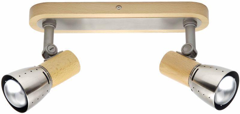 Brilliant Strahlerbalken Juno 2, Braun,grau, Holz/Metall, 57629/70