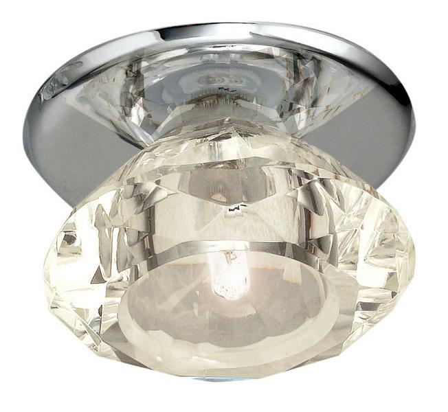 EGLO Deckenleuchte Luxy, Chrom,transparent, Glas/Kristallglas/Metall/Stahl, 88966