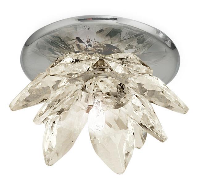 EGLO Deckenleuchte Luxy, Chrom,transparent, Glas/Kristallglas/Metall, 88967
