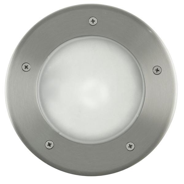 EGLO Bodenleuchte Riga 3, Metallisch,weiß, Edelstahl/Kunststoff, 86189