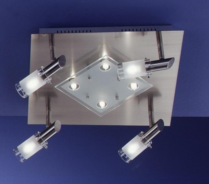 Fischer Halogenstrahler Catina 8, Metallisch/transparent, Glas/Metall, 30097 | Lampen > Leuchtmittel > Halogenstrahler | Matt