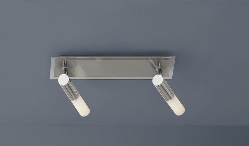 FLI Strahlerbalken Maximos 2, Metallisch,weiß, Metall/Glas, 210052