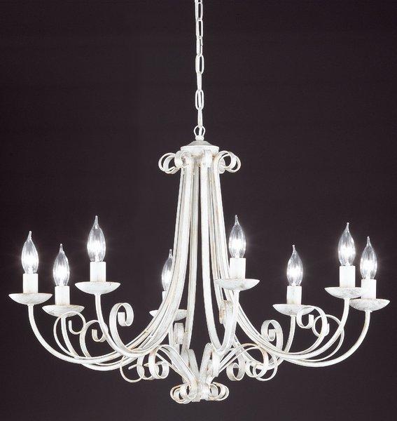 Lampe & Leuchte>Honsel Pisa Kronleuchter - Weiß/Goldfarbig, groß