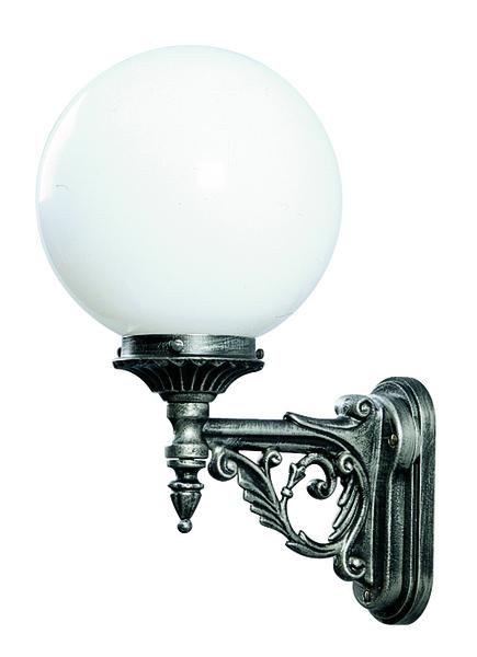 Albert Außenwandleuchte Belmonda, Metallisch/schwarz/weiß, Aluminium/Glas/Opalglas, 600609