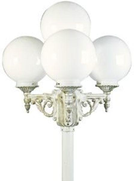 Albert Kandelaber Belmonda 4, Gold/weiß, Aluminium/Glas/Opalglas, 672051 | Dekoration > Kerzen und Kerzenständer