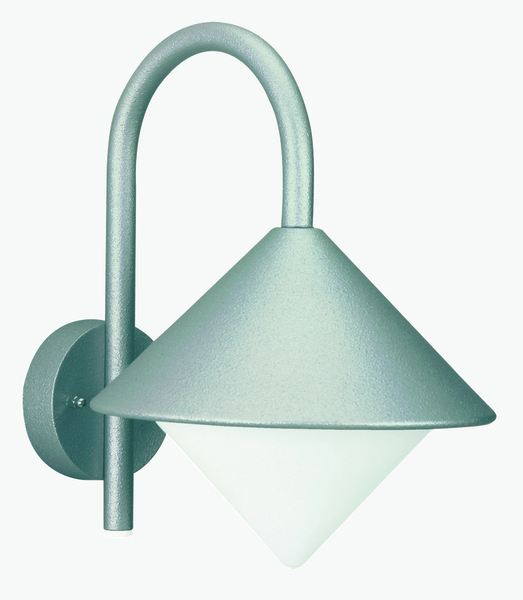 Albert Laterne Valbano, Metallisch/weiß, Aluminium/Glas/Opalglas, 690645