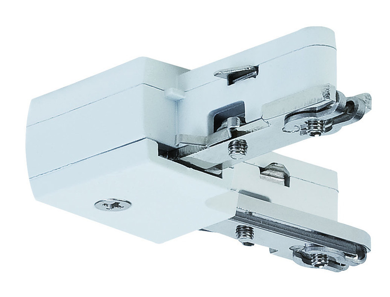 Paulmann Stromschienensystem URail Light&Easy L-Verbinder, Weiß, Metall, 97649 | Lampen > Strahler und Systeme > Schienensysteme | Weiß | Metall