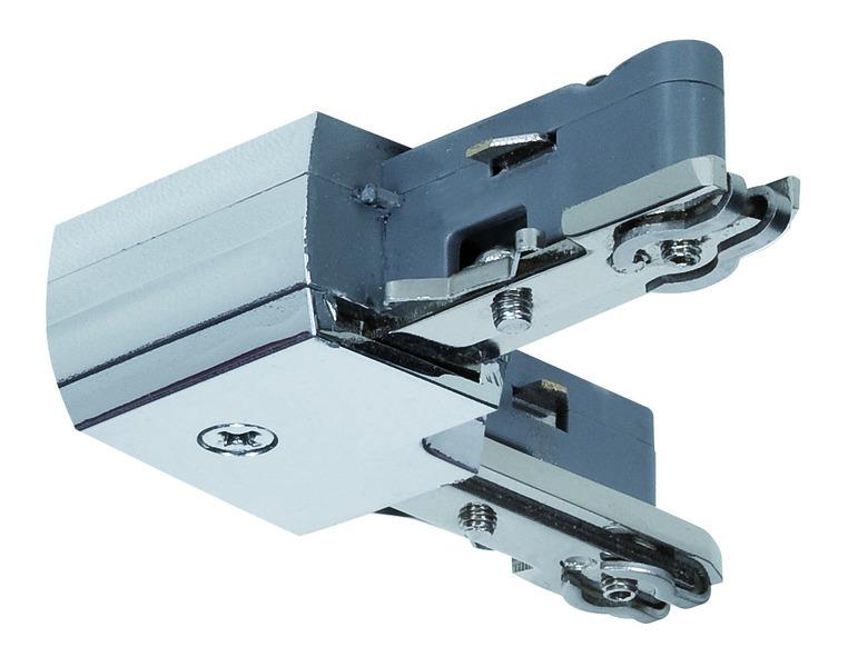 Paulmann Stromschienensystem URail Light&Easy L-Verbinder, Chrom, Metall, 97650