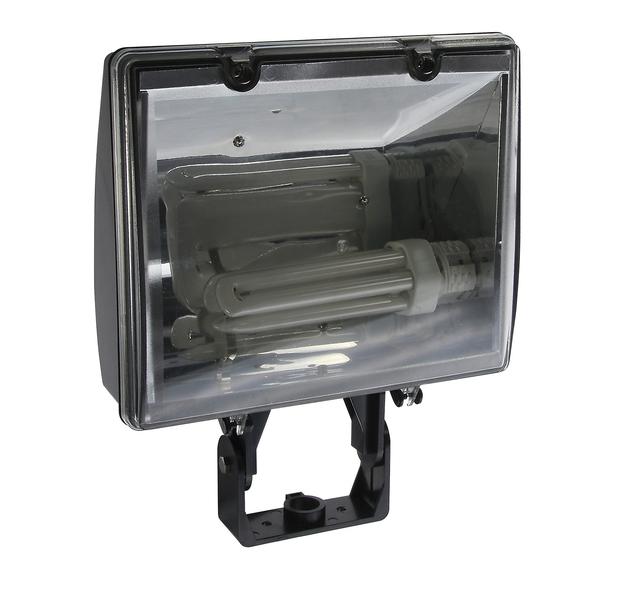 Heitronic Außenwandstrahler Damandia, Transparent,metallisch,schwarz, Kunststoff/Aluminium/Glas, 36765