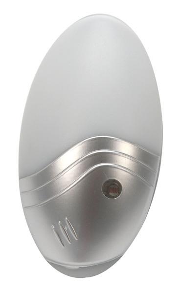 Heitronic LED Steckdosenleuchte Farino LED, Grau/metallisch/silber, Kunststoff, 47186